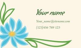Επαγγελματική κάρτα με τη floral διακόσμηση στο ινδικό ύφος Στοκ Εικόνες