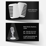 Επαγγελματική κάρτα με το μικρόφωνο Στοκ φωτογραφίες με δικαίωμα ελεύθερης χρήσης