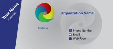 Επαγγελματική κάρτα με το παράδειγμα λογότυπων Στοκ φωτογραφία με δικαίωμα ελεύθερης χρήσης