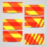 Επαγγελματική κάρτα που τίθεται διανυσματική για το σχέδιό σας. Στοκ Εικόνες