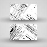 Επαγγελματική κάρτα που τίθεται διανυσματική για το σχέδιό σας Στοκ Εικόνα