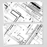 Επαγγελματική κάρτα που τίθεται διανυσματική για το σχέδιό σας Στοκ Εικόνες