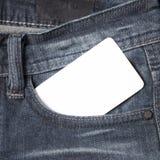 Επαγγελματική κάρτα στην τσέπη Jean Στοκ φωτογραφίες με δικαίωμα ελεύθερης χρήσης
