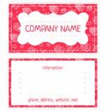Επαγγελματική κάρτα των άσπρων κέικ διανυσματική απεικόνιση