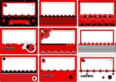 Επαγγελματική κάρτα ladybug Στοκ φωτογραφία με δικαίωμα ελεύθερης χρήσης