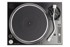 Επαγγελματική περιστροφική πλάκα του DJ που απομονώνεται στο λευκό Στοκ Φωτογραφίες