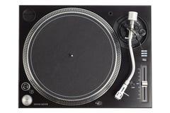 Επαγγελματική περιστροφική πλάκα του DJ που απομονώνεται στο λευκό Στοκ Εικόνα