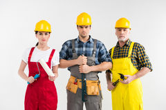 Επαγγελματικοί εργάτες οικοδομών Στοκ Εικόνα