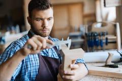 Επαγγελματικός ξυλουργός Στοκ φωτογραφία με δικαίωμα ελεύθερης χρήσης