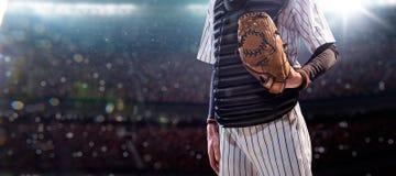 Επαγγελματικός παίχτης του μπέιζμπολ στη δράση Στοκ φωτογραφίες με δικαίωμα ελεύθερης χρήσης