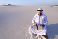 Επαγγελματικός σχεδιαστής τύπων Emirati με το πρόγραμμα προγραμμάτων υπολογιστών Στοκ Εικόνα