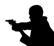 Επαγγελματικό άτομο με το πυροβόλο όπλο Στοκ φωτογραφία με δικαίωμα ελεύθερης χρήσης