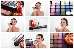 Επαγγελματικό κολάζ makeup Στοκ φωτογραφίες με δικαίωμα ελεύθερης χρήσης