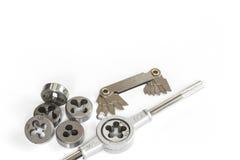 Επαγγελματικό μηχανικό σύνολο εργαλείων χειρός Καρύδια βρυσών και κύβων για την εργασία μετάλλων Στοκ εικόνα με δικαίωμα ελεύθερης χρήσης