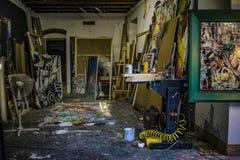 Επαγγελματικό στούντιο καλλιτεχνών ζωγράφων Στοκ Εικόνες