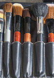 Επαγγελματικό σύνολο βουρτσών Makeup κοκκώδες Στοκ Φωτογραφία