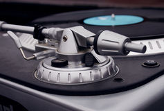 Επαγγελματικό σύνολο περιστροφικών πλακών του DJ Στοκ φωτογραφίες με δικαίωμα ελεύθερης χρήσης