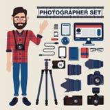 Επαγγελματικό σύνολο φωτογράφων διανυσματική απεικόνιση