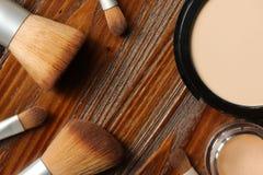 Επαγγελματικό makeup και ένα σύνολο βουρτσών Στοκ Εικόνα