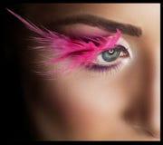 Επαγγελματικό Makeup eyelashes ψεύτικος στοκ φωτογραφίες με δικαίωμα ελεύθερης χρήσης
