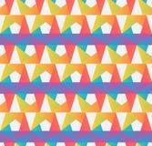 Επανάληψη της γεωμετρικής σύγχρονης μοντέρνης σύστασης στα φωτεινά χρώματα Χρωματισμένο γραφικό σχέδιο, καθιερώνον τη μόδα ύφος γ Στοκ εικόνα με δικαίωμα ελεύθερης χρήσης