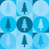 Επανάληψη του υποβάθρου από τους κύκλους και fir-trees διανυσματική απεικόνιση