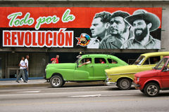επανάσταση αφισών της Κούβ Στοκ εικόνες με δικαίωμα ελεύθερης χρήσης