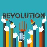 Επανάσταση με το διανυσματικό σχήμα Στοκ Φωτογραφία