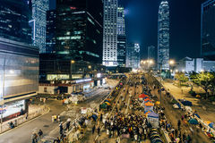 Επανάσταση ομπρελών στο Χονγκ Κονγκ 2014 Στοκ φωτογραφίες με δικαίωμα ελεύθερης χρήσης