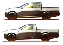 Επανάλειψη 5-πορτών σώματος αυτοκινήτων και επανάλειψη 3-πορτών Στοκ εικόνες με δικαίωμα ελεύθερης χρήσης