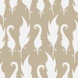 Επανάληψη floral και σχέδιο φτερών άνευ ραφής σύσταση Στοκ Εικόνες