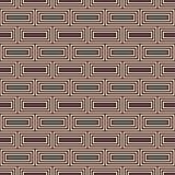 Επαναλαμβανόμενο ορθογώνιο αφηρημένο υπόβαθρο φραγμών Μοτίβο τούβλων Εθνικό άνευ ραφής σχέδιο ύφους με τη γεωμετρική διακόσμηση διανυσματική απεικόνιση