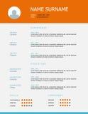 Επαναλάβετε το σχέδιο προτύπων με τους πορτοκαλιούς μπλε τίτλους Στοκ Φωτογραφίες