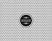 Επαναλάβετε το υπόβαθρο κιβωτίων γραμμών πολυγώνων Στοκ Εικόνες