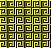 Επαναλαμβάνοντας το λαβύρινθο όπως το σχέδιο κίτρινο Στοκ Φωτογραφία