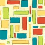 Επαναλαμβανόμενο γεωμετρικό σχέδιο ορθογωνίων Στοκ φωτογραφία με δικαίωμα ελεύθερης χρήσης