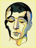 Επανδρώνει το κεφάλι είναι ένας κόσμος διανυσματική απεικόνιση