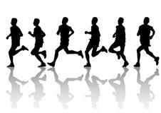 επανδρώνει το τρέξιμο Στοκ εικόνες με δικαίωμα ελεύθερης χρήσης