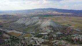 Επαρκές τοπίο της Τουρκίας Cappadocia, που πυροβολεί από τον κηφήνα απόθεμα βίντεο