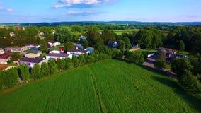 Επαρχία και amish αγροκτήματα Amish από τον κηφήνα απόθεμα βίντεο