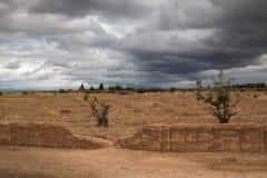 Επαρχία σε έναν θυελλώδη καιρό, Μαρόκο Στοκ Εικόνες