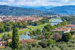 Επαρχία Φλωρεντία Τοσκάνη Ιταλία γεφυρών ποταμών Arno στοκ εικόνες με δικαίωμα ελεύθερης χρήσης