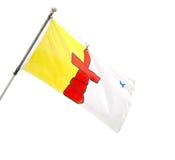 Επαρχιακή σημαία Nunavut, Καναδάς. Στοκ Φωτογραφία