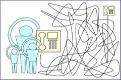 Επαφές τηλεφώνων και ανθρώπων Επικοινωνία - σύνδεση ανθρώπων διανυσματική απεικόνιση