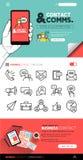 Επαφή και έννοιες και εικονίδια επικοινωνίας Στοκ Εικόνες