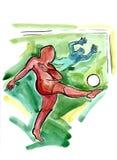 Επεισόδιο ποδοσφαίρου Απεικόνιση αποθεμάτων