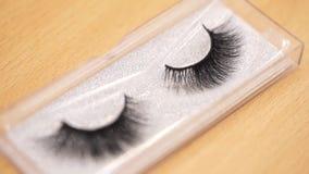 Επεκτάσεις και φρύδια Eyelash eyelashes ψεύτικος απόθεμα βίντεο