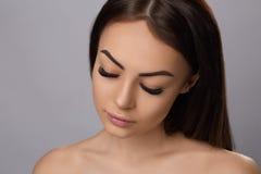Επεκτάσεις Eyelashes eyelashes απομίμηση στοκ εικόνες με δικαίωμα ελεύθερης χρήσης