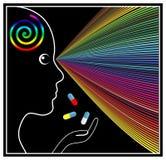 Επεκτειμένος φάρμακα μυαλού Στοκ φωτογραφία με δικαίωμα ελεύθερης χρήσης