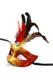 επενδυμένη με φτερά μάσκα Στοκ Φωτογραφία